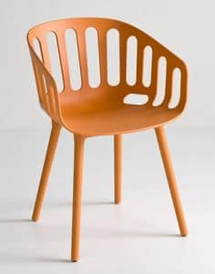 Basket Chair BP, Sedia design in tecnopolimero, per bar e ristoranti