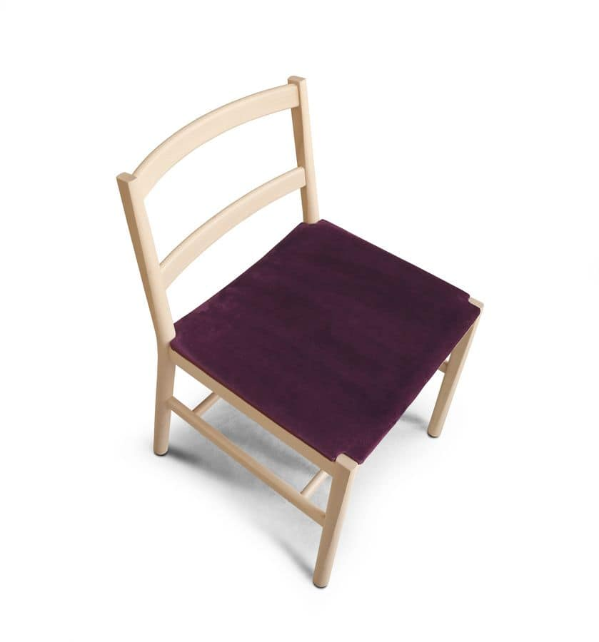 ART. 0020-IMB JULIE, Sedia minimale con seduta imbottita