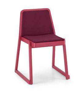 ART. 0041-IMB ROXANNE, Confortevole sedia impilabile con seduta e schienale imbottiti