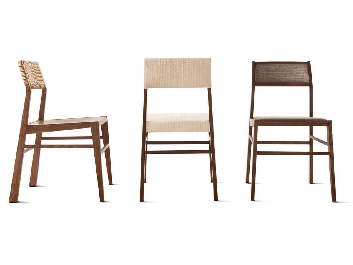 sedia minimale in legno seduta e schienale On sedia design legno