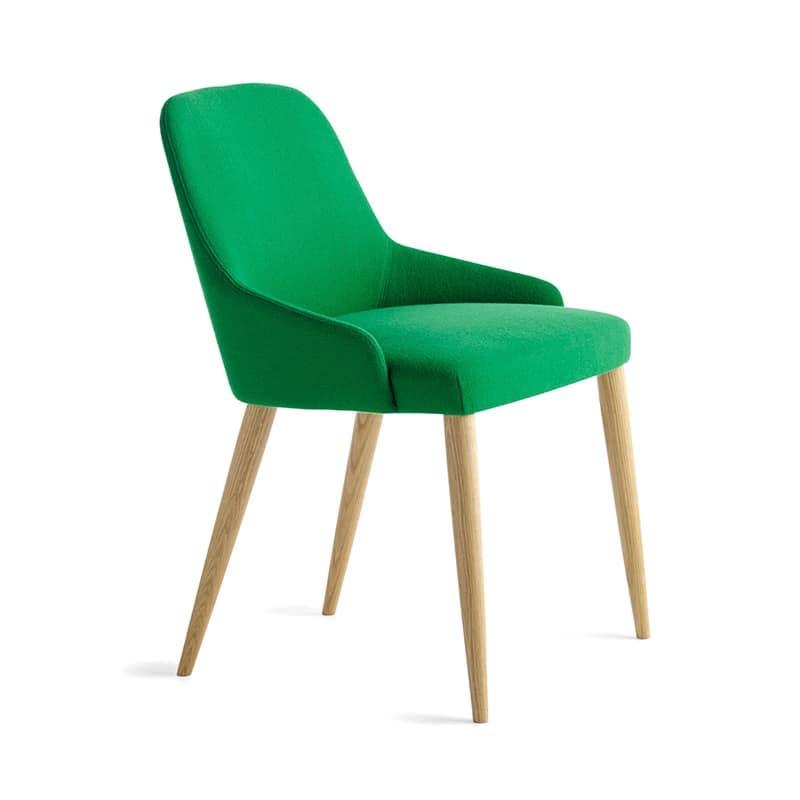 Sedia lineare in legno in stile classico contemporaneo idfdesign - Sedie in legno design ...