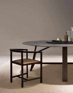 Elin sedia, Sedia con braccioli, dal design essenziale