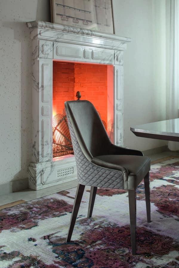 Sedia elegante sedia bianca elegante per ambienti moderni for Sedia decor