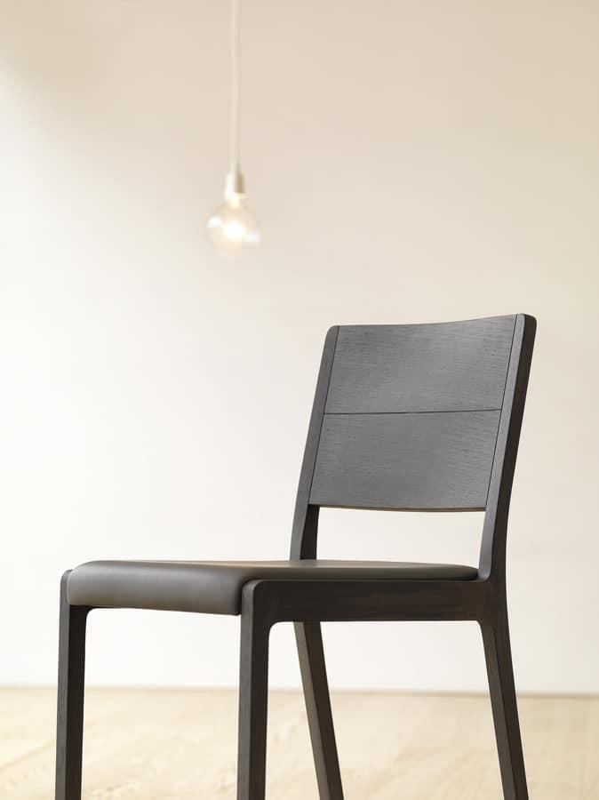 Sedia in legno massello sedile imbottito idfdesign for Sedia design amazon