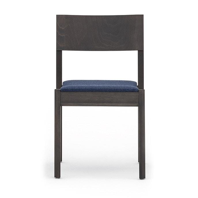 Maki 03712, Sedia in legno senza braccioli, impilabile