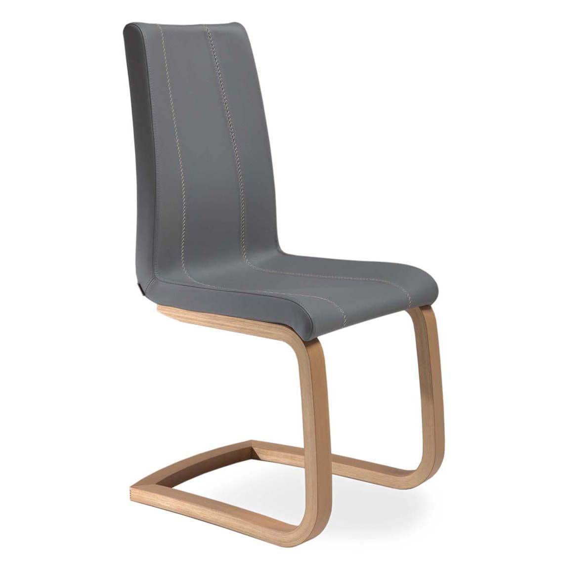 Sedia Gambe Legno Delfy Wood : Sedia con base a slitta in legno di faggio per uso