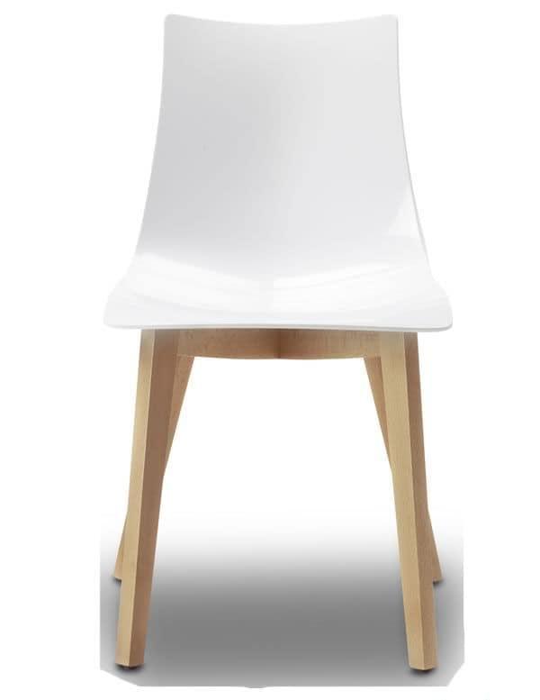 Sedia in legno e policarbonato trasparente o diversi for Sedie design tortora