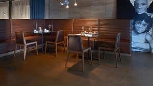 Sidney sedia, Sedia in legno di faggio, per ambienti contract