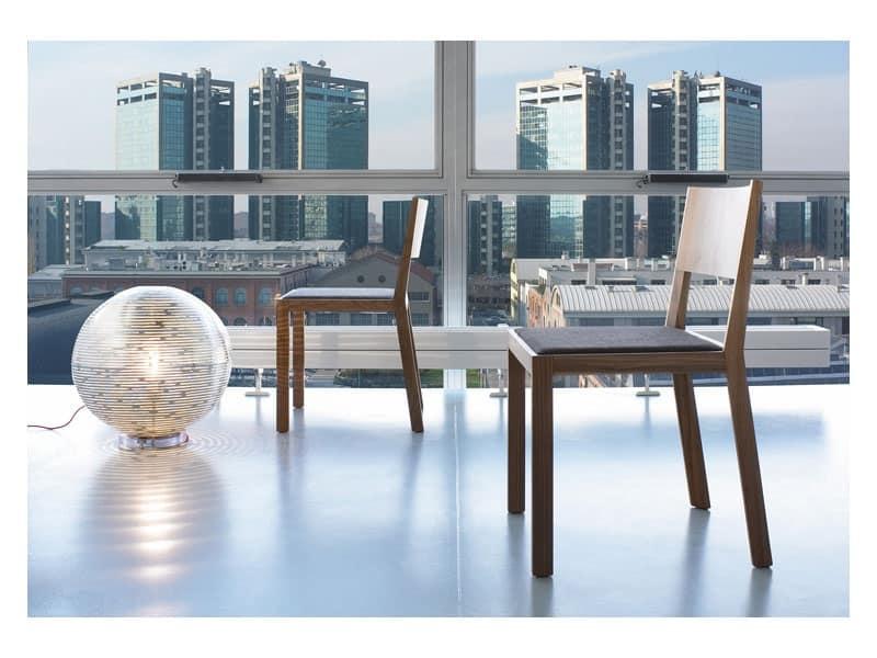 Sedia in legno senza braccioli idfdesign for Sedia design amazon