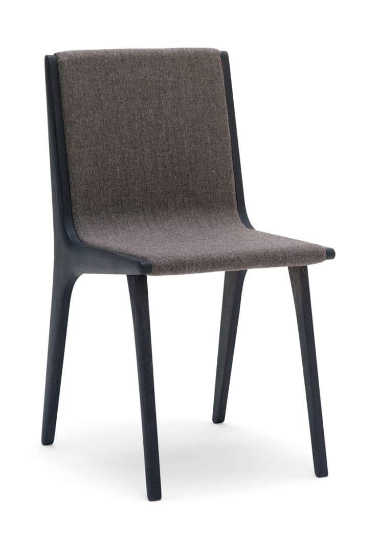 Vinaigrette sedia sedia in rovere per sale da pranzo - Sedie imbottite design ...