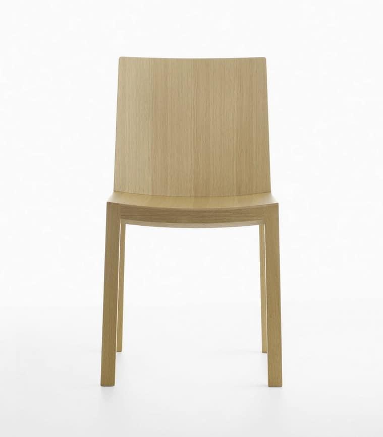 Sedia in legno massello idfdesign - Sedia bianca legno ...