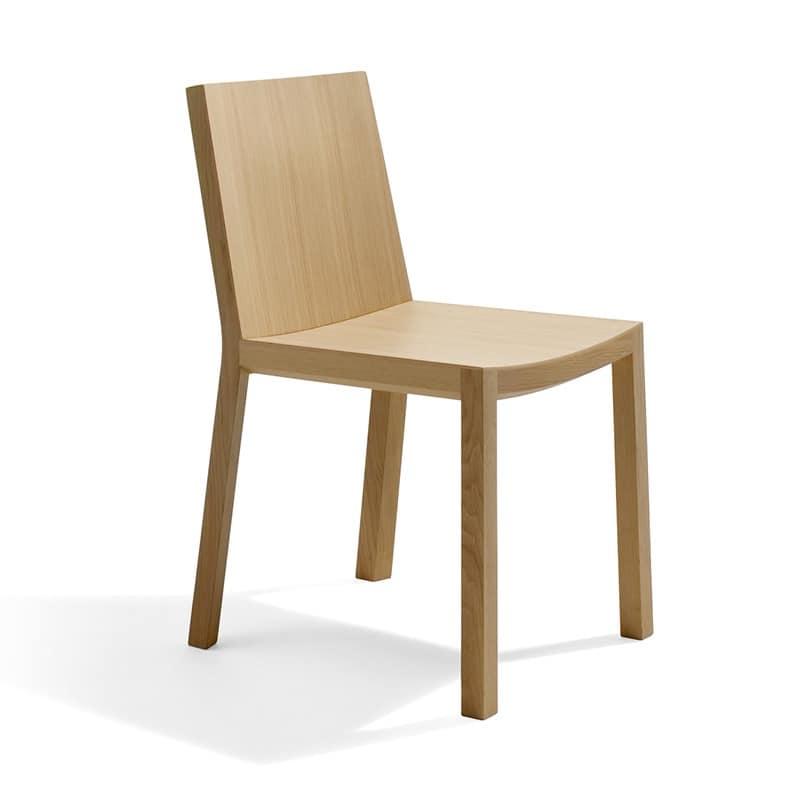 Sedia completamente in legno multistrato stile lineare idfdesign - Sedie in legno design ...