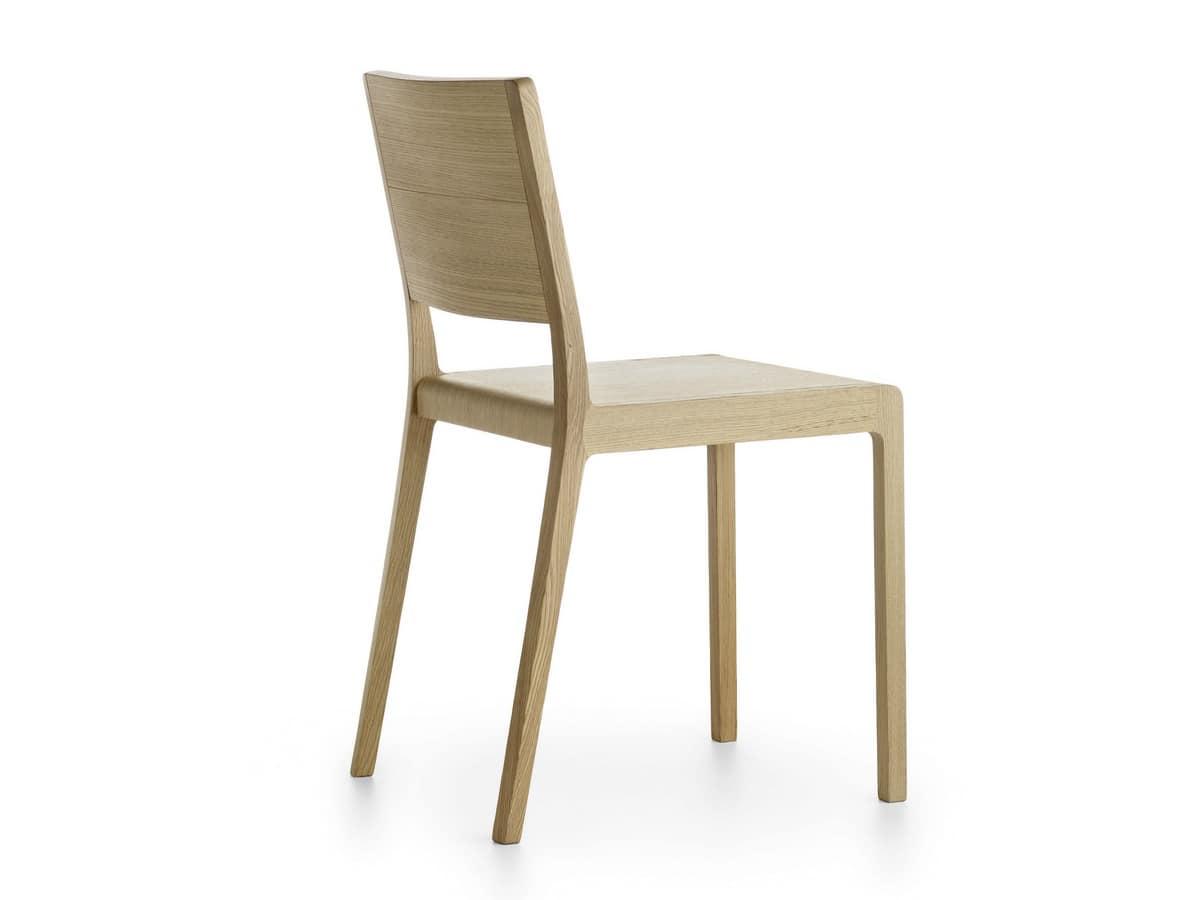 Sedia design in legno massello spigoli arrotondati - Sedia legno design ...