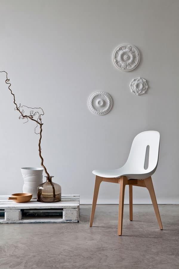 Gotham w sedia legno studio interior design idfdesign for Sedia design srl