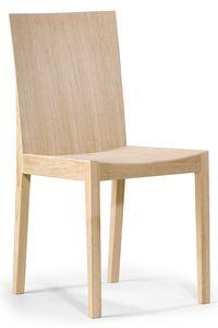 Luna, Sedia in legno dal design semplice