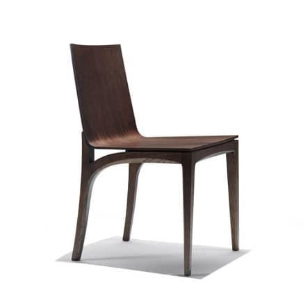 sedia rovere sedia in legno sedia lineare studio
