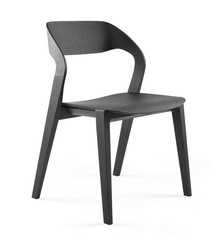 sedia design in legno impilabile minimale per albergo. Black Bedroom Furniture Sets. Home Design Ideas