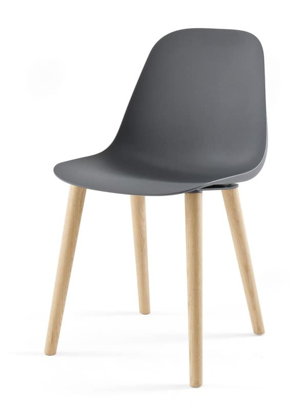 Sedia design in legno e in poliuretano per sala pranzo idfdesign - Sedie in legno design ...