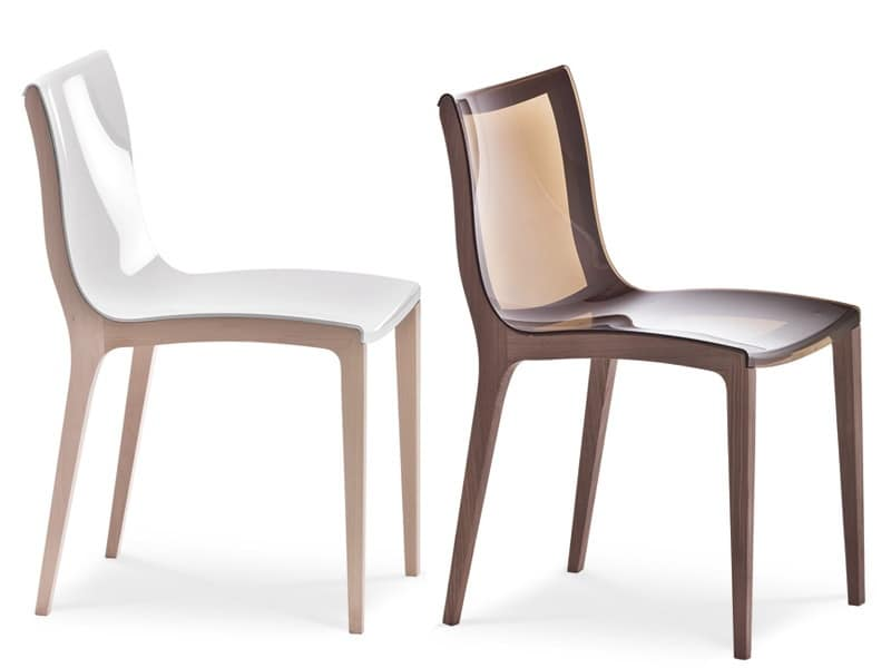 Sedie forma nuova legno ristorante design idfdesign - Sedie in legno design ...