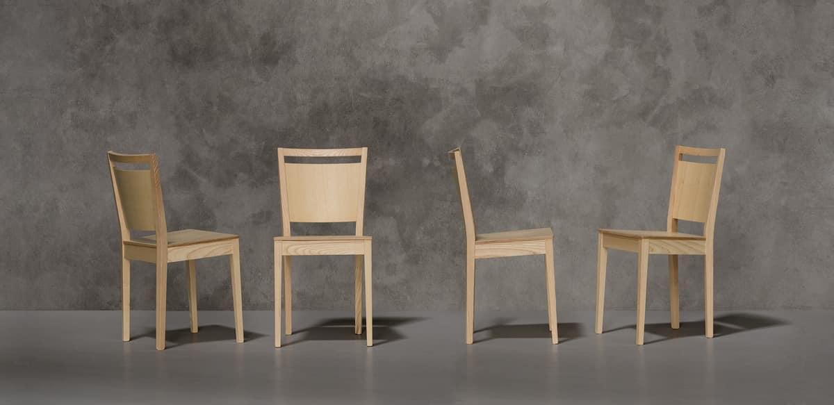 TREVISO, Sedia moderna in legno di frassino