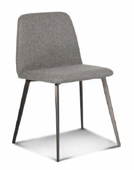 Sedia imbottita con base in metallo, gambe coniche | IDFdesign