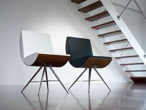 MANIA, Sedia con sedile e schienale curvati