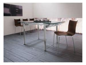 Zelig S LG, Sedia moderna impilabile in metallo e legno