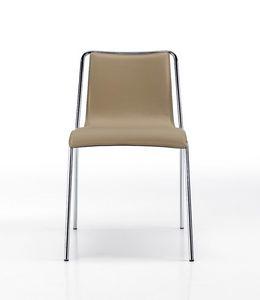 Air, Sedia in cuoio, dal design essenziale