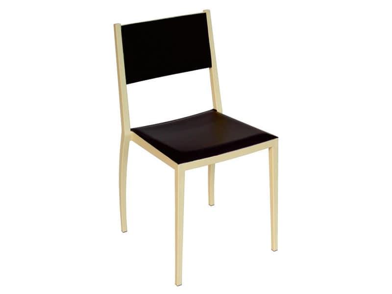 Firenze cod 41 i sedia seduta in pelle residenziale for Sedie design usate firenze