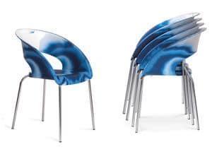 Immagine di Bluebell Mare, sedie minimali metallo