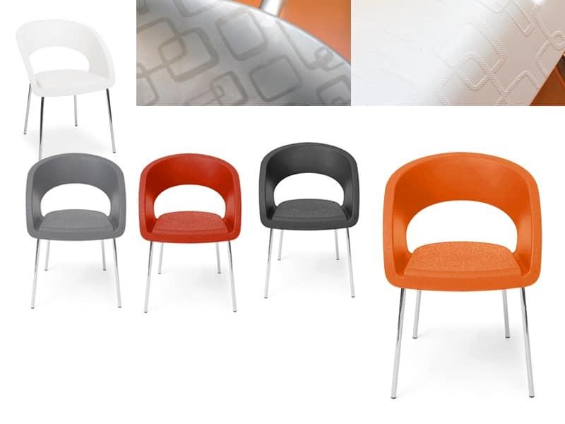 Sedia moderna in vari colori per studio architetto for Sedie design anni 20