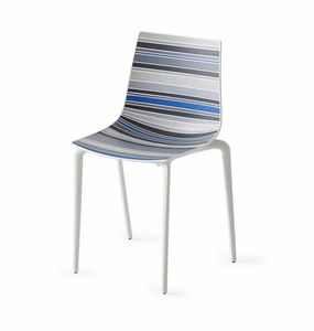 Colorfive TP, Sedia in tecnopolimero, gambe in metallo, varie finiture