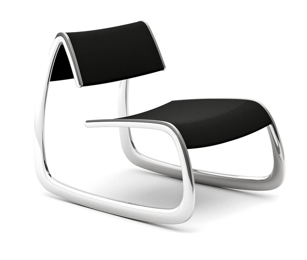 G-Chair, Poltrona design con struttura in acciaio