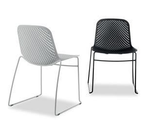 I.S.I. Chair, Sedia impilabile con scocca in  materiale plastico