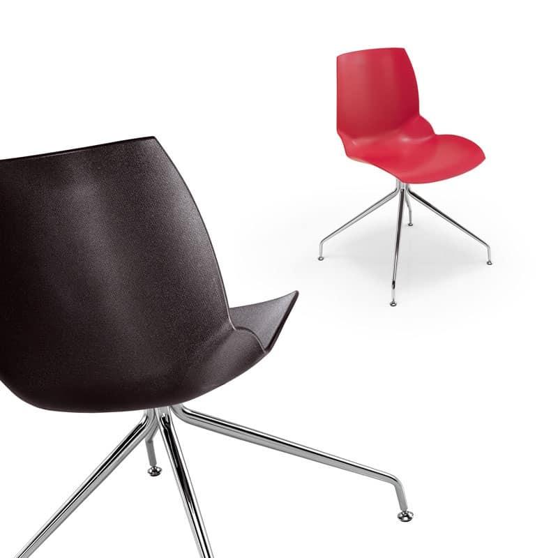 Sedia moderna con particolare finitura della scocca for Sedie plastica moderne