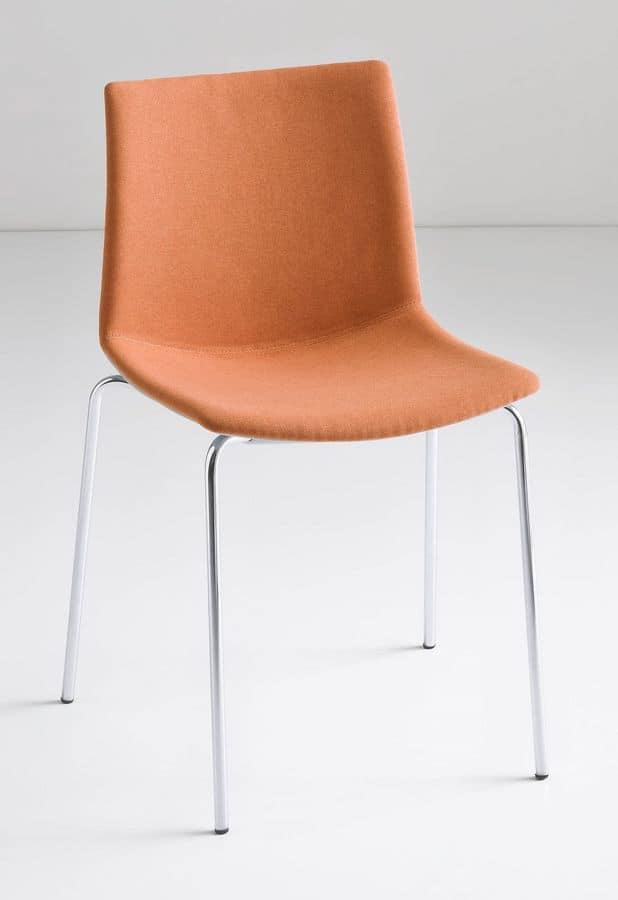 Sedia design con gambe in metallo per uso contract for Sedie design metallo