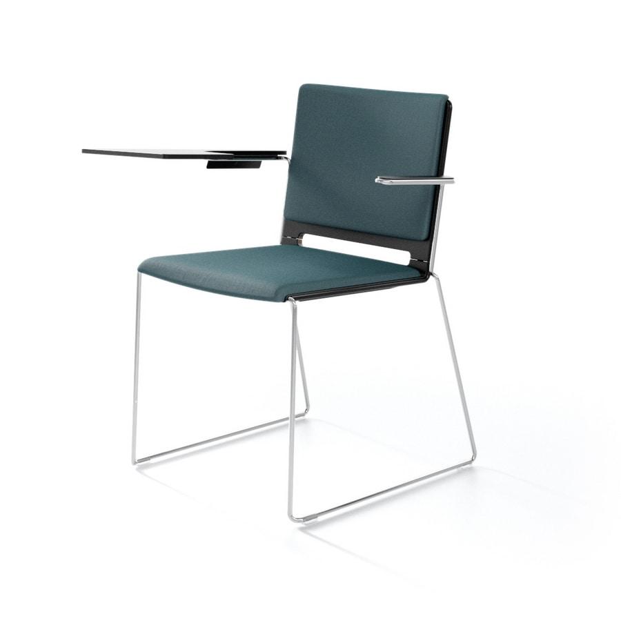 Sedia moderna con braccioli per il contract e la casa for Sedie design metallo
