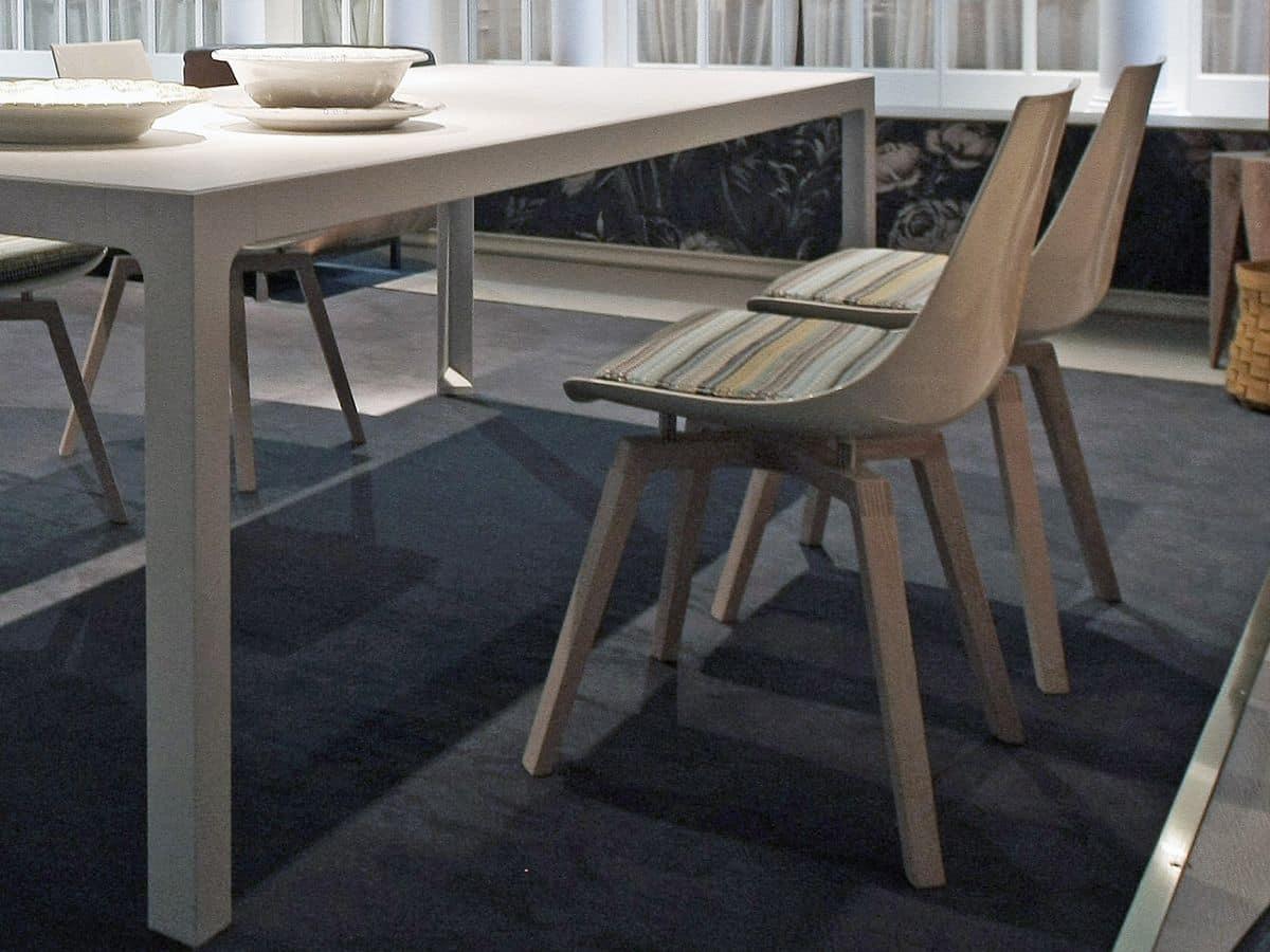 Sedia legno plastica per sala pranzo comoda sedia con for Sedia design comoda