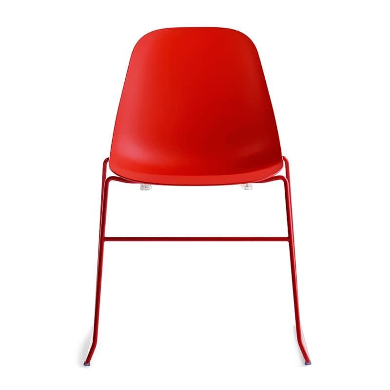 Sedia design in legno e in poliuretano per sala pranzo for Sedia design srl