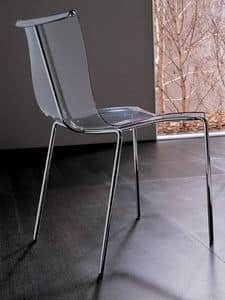 Zelig S PL, Sedia in metallo con scocca in materiale plastico
