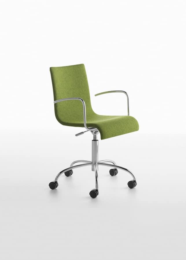 Sedia operativa per ufficio con altezza regolabile for Sedie design per ufficio
