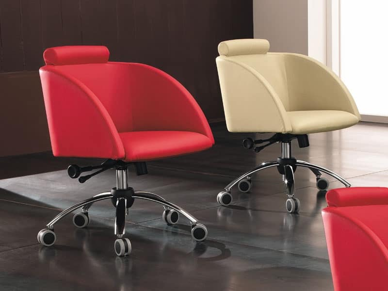 Sedia ufficio con ruote ufficio idfdesign for Negozi sedie ufficio