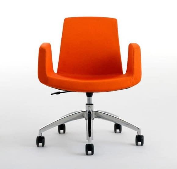 Accogliente poltrona da ufficio girevole e regolabile in - Sedie ufficio mercatone uno ...
