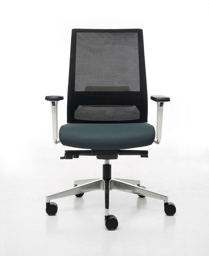 Logica White 01, Sedia bianca per ufficio