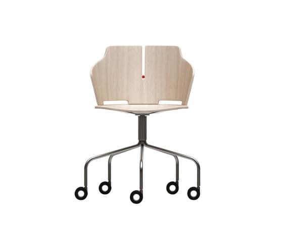 Sedia con ruote per ufficio idfdesign for Sedia ufficio gialla