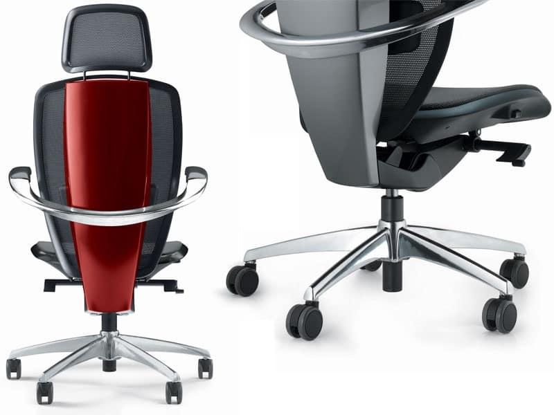 Sedie Per Ufficio Ergonomiche : Sedia ergonomica per ufficio design pininfarina alta tecnologia