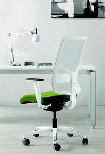 11522 Sax, Elegante sedia ufficio con base bianca