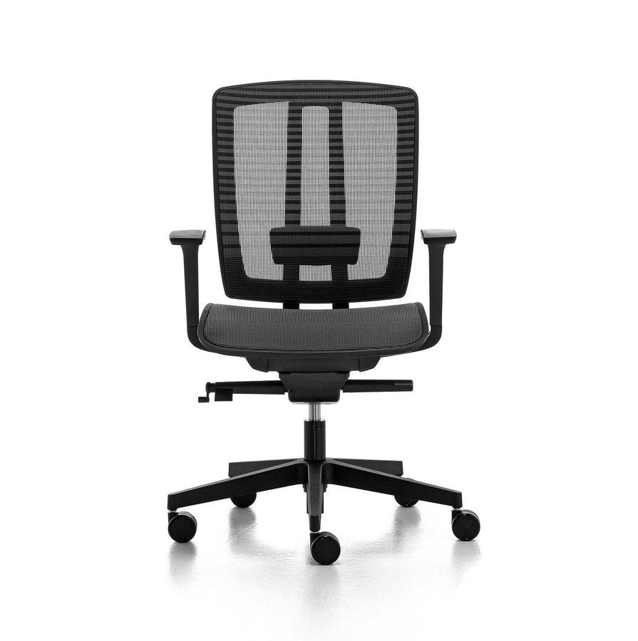 Sedie Dirigenziali Per Ufficio.Sedia Per Ufficio Dirigenziale Schienale In Rete Idfdesign