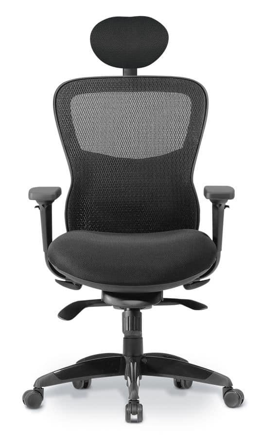 Sedia direzionale con schienale in rete per ufficio for Sedie direzionali per ufficio