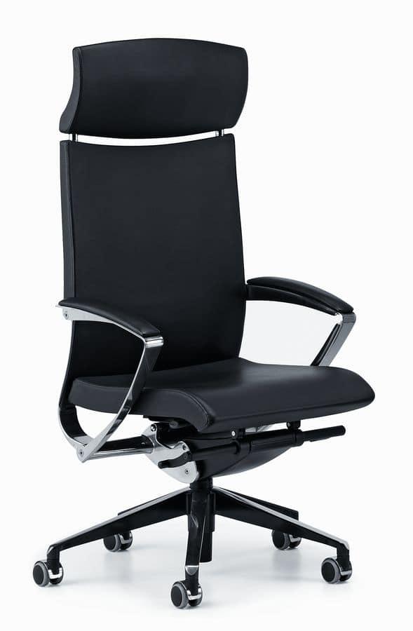 Sedia direzionale per ufficio meccanismo oscillante for Fenice design sedie ufficio